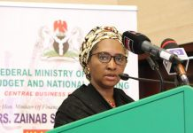 Minister of Finance,Budget and National Planning, Mrs. Zainah Ahmed